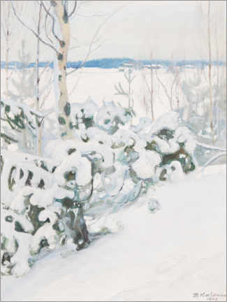 Foam board print  Winter day - Pekka Halonen