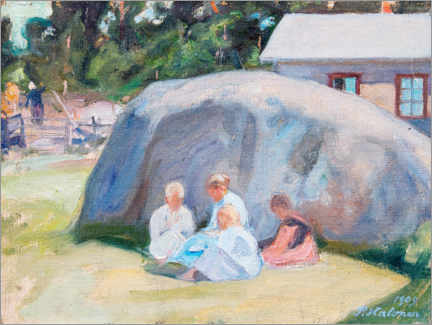 Acrylic print  Children playing in the yard - Pekka Halonen