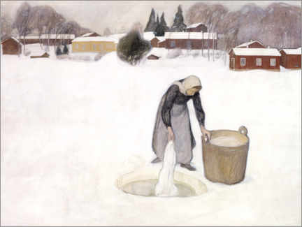 Canvas print  Washing on the ice - Pekka Halonen