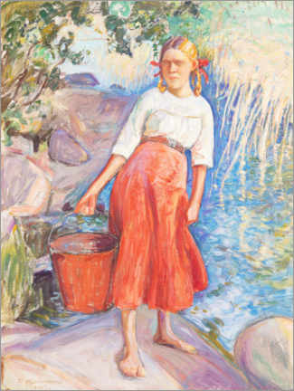Acrylic print  Girl fetching water - Pekka Halonen