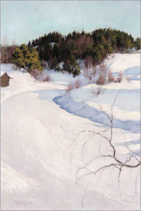 Canvas print  Winter landscape from Myllykylä - Pekka Halonen