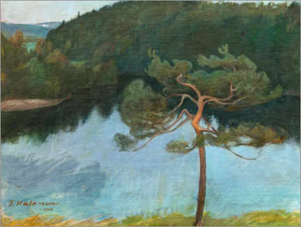 Wall sticker  Pine tree on the shore - Pekka Halonen