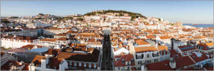 Premium poster The roofs of Lisbon, Portugal