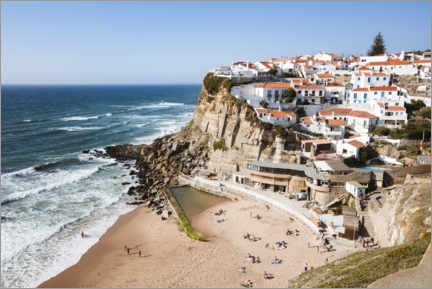Premium poster Village on the cliff, Portugal