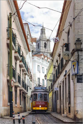 Canvas print  Tram in Lisbon old town - Matteo Colombo