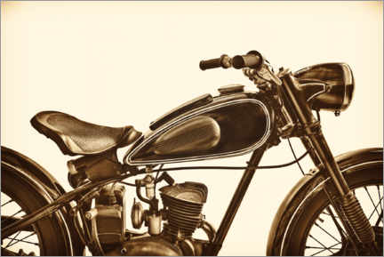 Acrylic print  Side view of a vintage motorcycle - Martin Bergsma