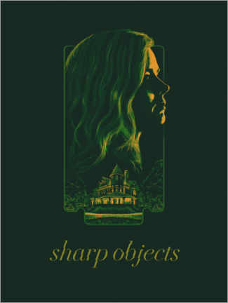 Aluminium print  Sharp Objects - The Usher designs