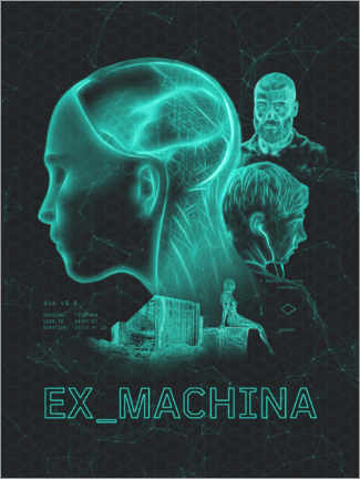 Foam board print  Ex Machina - The Usher designs