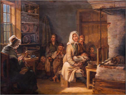 Gallery print  Poor family from Dalarna - Robert Wilhelm Ekman