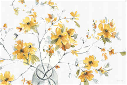 Premium poster Glass vase with flowering branch I