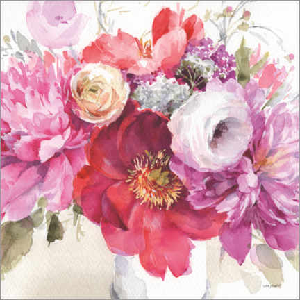 Premium poster  Still life with peonies II - Lisa Audit
