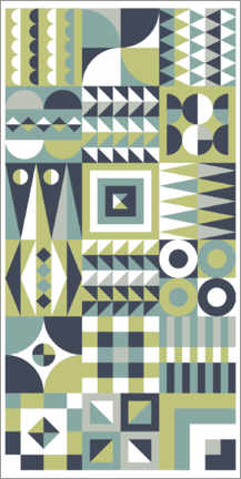 Wood print  Patchwork two - Thomas Marutschke