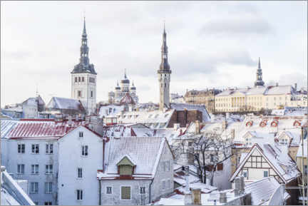Acrylic print  Views of the Tallinn Skyline in the Winter - Mike Clegg Photography