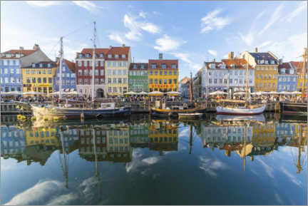 Premium poster  Reflections along the Nyhavn in Copenhagen - Mike Clegg Photography