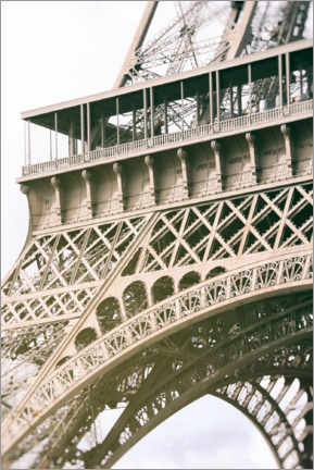 Premium poster Eiffel tower, detail