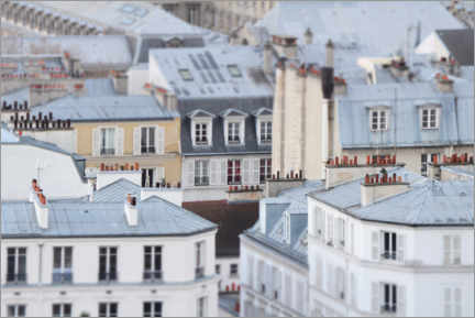 Wood print  Over the roofs of Paris - Carina Okula