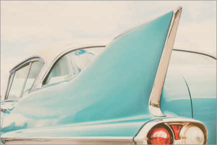 Foam board print  Rear end of a classic car from the 1950s - Martin Bergsma