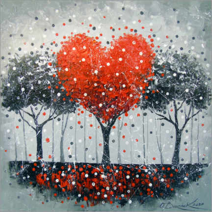 Canvas print  Love tree - Olha Darchuk