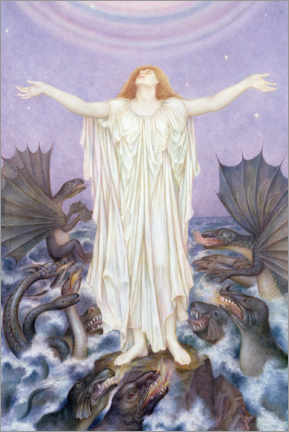 Aluminium print  SOS - Evelyn De Morgan