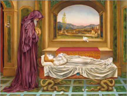 Acrylic print  The wandering Jew whom the gods love - Evelyn De Morgan