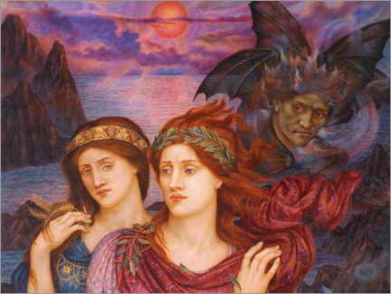 Premium poster  The vision - Evelyn De Morgan