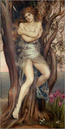 Wood print  The dryad - Evelyn De Morgan