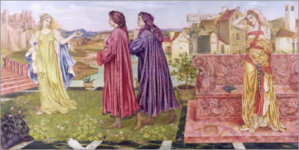 Gallery print  Garden of Opportunities - Evelyn De Morgan