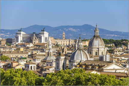 Premium poster View over Rome - from Castel Sant'Angelo