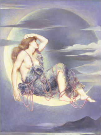 Aluminium print  Luna - Evelyn De Morgan