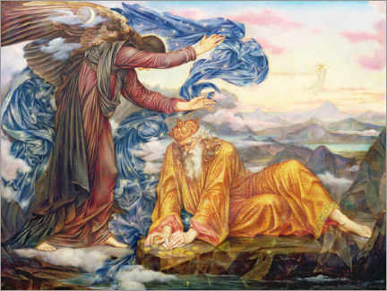 Wood print  Earthbound - Evelyn De Morgan