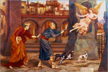Premium poster  Blindness and amorality chase joy out of the city - Evelyn De Morgan