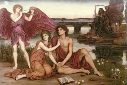 Wall sticker  Temporary love - Evelyn De Morgan