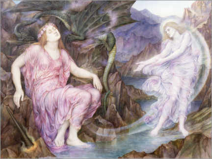 Gallery print  Passing the soul at death - Evelyn De Morgan