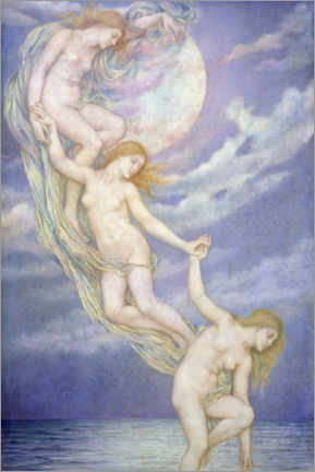 Wall sticker  Moon rays dive into the sea - Evelyn De Morgan