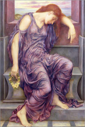 Aluminium print  In Memoriam - Evelyn De Morgan