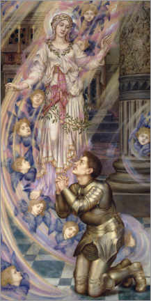 Canvas print  Our Lady of Peace - Evelyn De Morgan