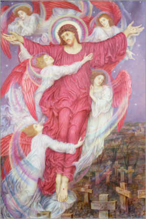 Premium poster  The Red Cross - Evelyn De Morgan