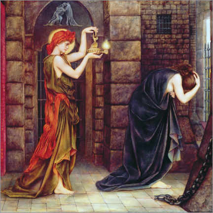 Wall sticker  Hope in the prison of despair - Evelyn De Morgan