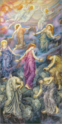 Premium poster  The Kingdom of Heaven is suffering from violence - Evelyn De Morgan