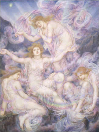 Canvas print  Daughters of the Mist - Evelyn De Morgan