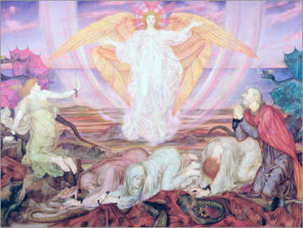 Acrylic print  Death of the kite - Evelyn De Morgan