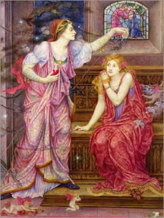 Aluminium print  Queen Eleanor and Rosamund - Evelyn De Morgan