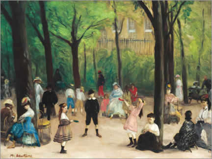 Acrylic print  Luxembourg Gardens - William James Glackens