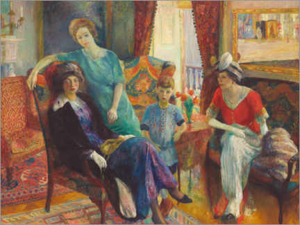 Acrylic print  Group family - William James Glackens