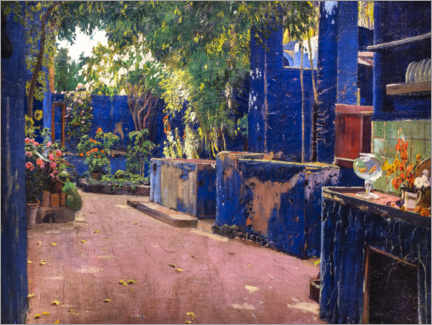 Gallery print  The blue courtyard - Santiago Rusinol y Prats