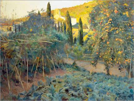 Canvas print  Garden of the Hermitage - Joaquim Mir I Trinxet