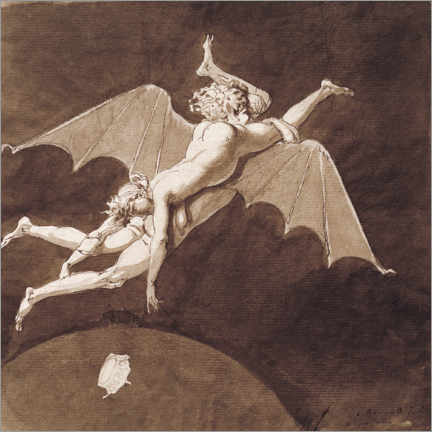 Foam board print  Descent into Hell by Catherine the Great - Nicolai Abraham Abildgaard