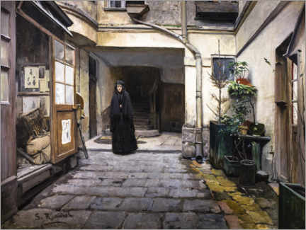 Canvas print  The pawnshop - Santiago Rusinol y Prats