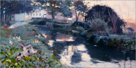 Canvas print  Moat in Condal - Joaquim Mir I Trinxet