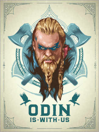 Foam board print  Odin Is With Us - The Usher designs